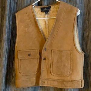 Vintage suede women's vest